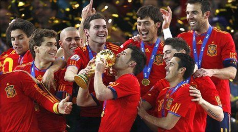 Spain 2010 World Cup Winners Line Up
