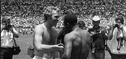Pele and Bobby Moore - World Cup 1970
