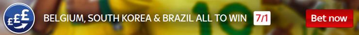 Brazil, Belgium, South Kores